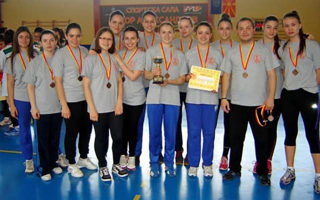 Гимназијалките на државно првенство во ракомет