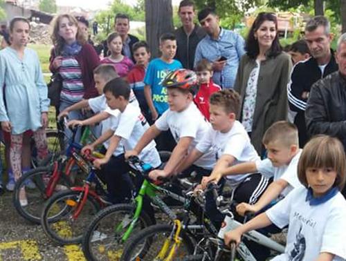 Голема училишна велосипедска трка на Градскиот стадион
