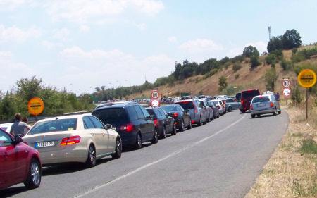 Зголемен интензитетот на сообраќајот на автопатот