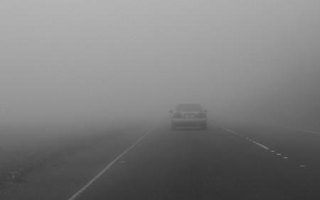 Намалена видливост поради магла на Страцин