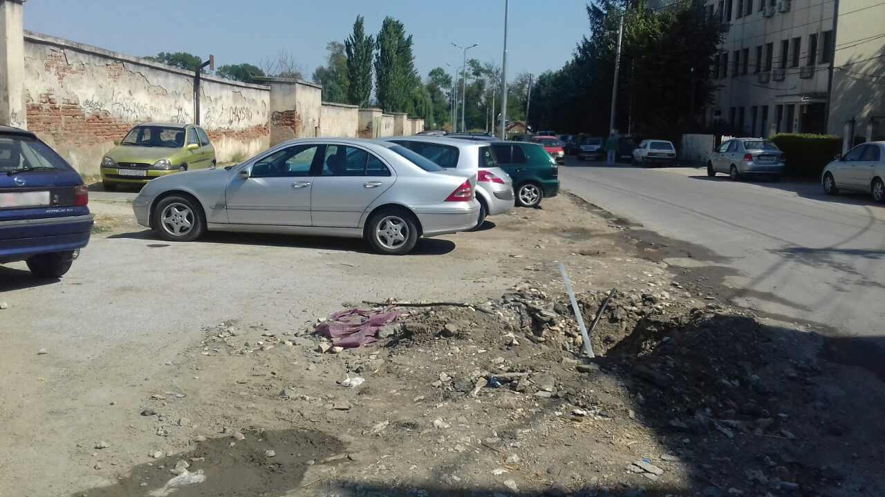 Кој го уништи паркингот кај градскиот стадион?