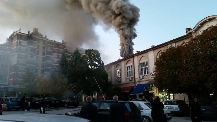 Локализиран пожарот во старата општинска зграда