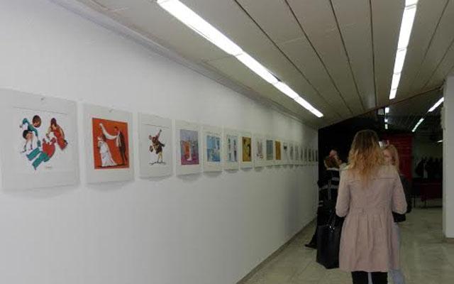 """Отворена изложбата на карикатури """"Снаа и свекрва"""""""