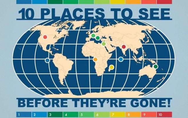 Посетете ги овие места пред да исчезнат